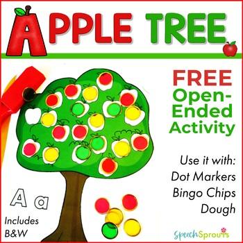 Free Apple Dot Marker Activity