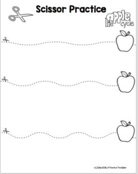 Free Apple Theme Scissor Practice