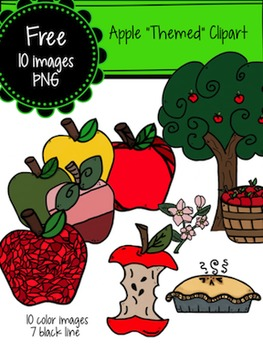 Free Apple Themed Clipart