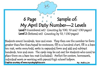 Free April Daily Number Sample