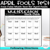 Free April Fools Day Fake Test Activity