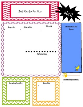 Free April Newsletter Templates in English and Spanish