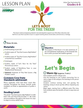Trees - Free Middle School Lesson Plan