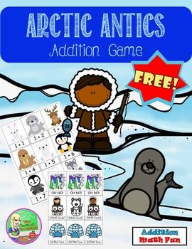 Free Arctic Antics Addition Game