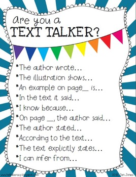 {Are You a Text Talker?} Using the Language of Textual Evidence: ELA CCSS 1