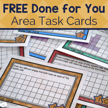 Area Task Cards Free By Top Notch Teaching Teachers Pay