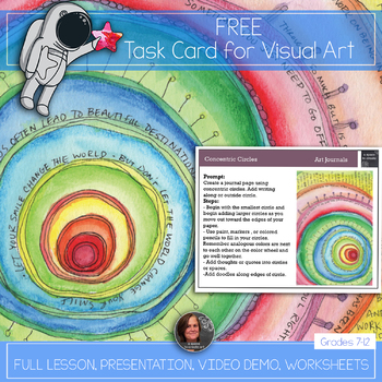Free Visual Art Task Card for Early Finishers
