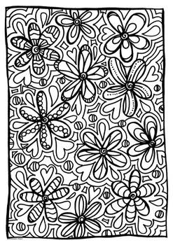 Art Activity- Flower Pattern-  FREEBIE