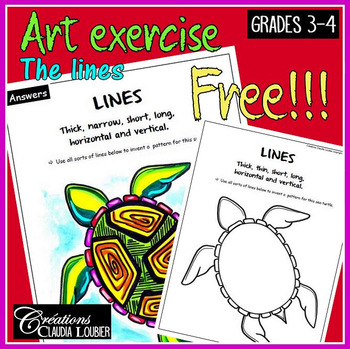 Free: Art exercise: Lines. Language of art. Grades 3-4