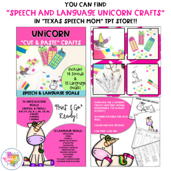 Free Articulation Unicorn Bookmarks