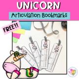 Free Articulation Unicorn Bookmarks