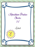 Articulation Worksheet /s/ initial FREEBIE