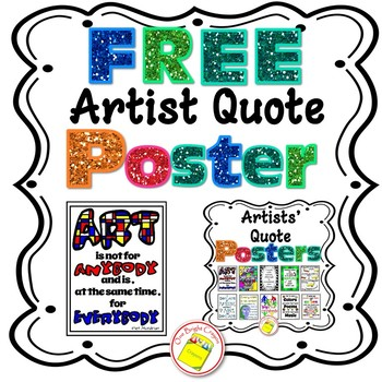 Free Artist Quote Poster