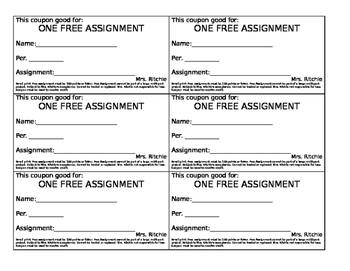 Free Assignment Coupon