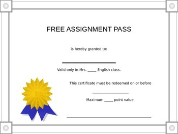 Free Assignment Pass