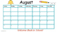 Free August School Calendar and Newsletter Template