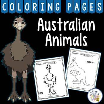 Australian Animals Coloring Pages Dollar Deal