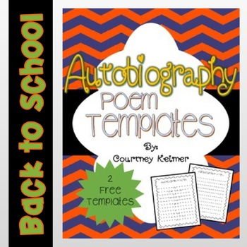 Free Autobiography Poem Template