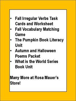 Free Autumn Fall Writing Activities