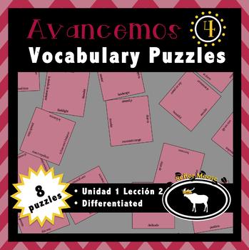 Free Avancemos 4 Spanish Vocabulary Puzzles (U1L2)