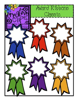 {Free} Award Ribbons Classic Colors {Creative Clips Digital Clipart}
