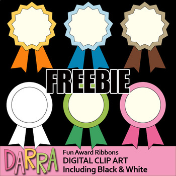 Free Award Ribbons Clip Art - Fun Award Ribbon Clipart Freebie