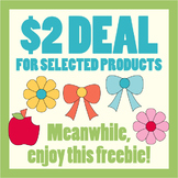 Free Back To School Clipart (Apple, flowers, ribbons clip art)
