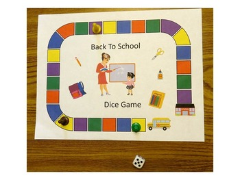 Free. Back To School Dice Game