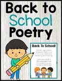 Free Back To School Poem