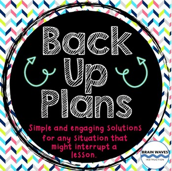 Free Back Up Plans to Save the Day!  5 Solutions for Common Classroom Problems