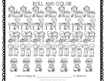 Free Back to School Articulation Roll and Color