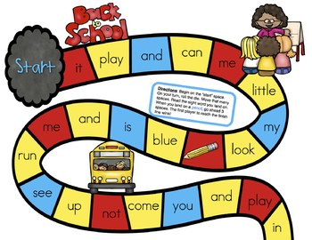 Back to School Freebie for Kindergarten | Sight Word Games Kindergarten
