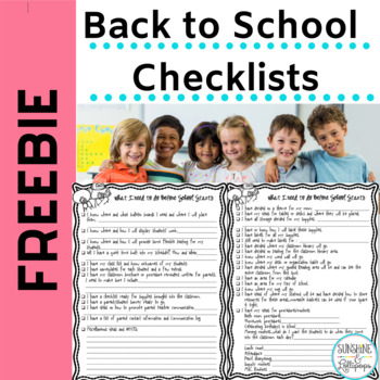 Free Back to School Checklist to Ready your Classroom