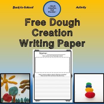 Free Back to School Dough Activity