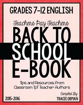 Free Back to School English Language Arts Grades 7-12 Sampler