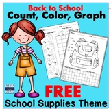 Back to School Graphing School Supplies: Free