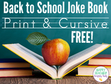 Free Back to School Handwriting Joke Book
