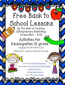 Free Back to School Lessons By The Best of Teacher Entrepreneurs MC - 2015