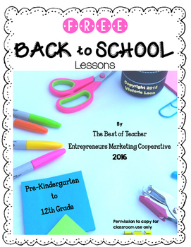 Free Back to School Lessons By The Best of Teacher Entrepreneurs MC - 2016