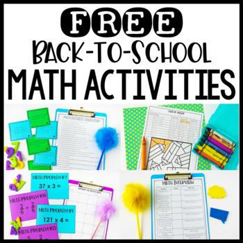 Free Back to School Math Activities