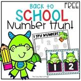 Free Back to School Number Hunt