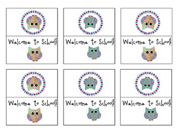 Free Back to School Owl Snack Bag Covers