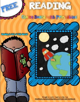 Free Back to School Reading Choice Board!