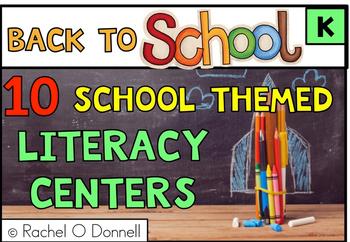 Free Back to School September Literacy Center Kindergarten