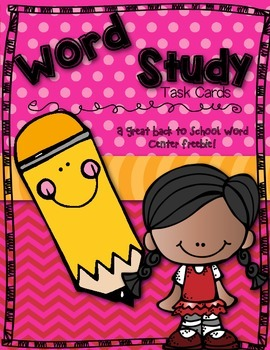 Free Back to School Word Study Center!