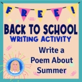 Free Back-to-School Writing Activity (Using Concrete Imagery)