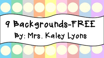 Free Backgrounds!!
