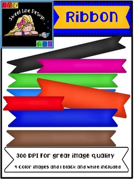Clipart: Free Banner Ribbons {Sweet Line Design Clipart}