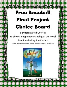 Free Baseball: 9 Differentiated Final Projects