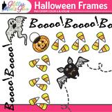 Halloween Clip Art Frames {Bat, Pumpkin, & Ghost Borders f